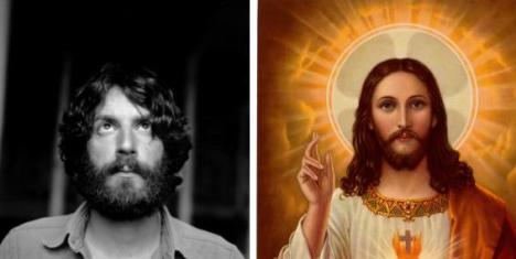 L: Ray Lamontagne, musician | R: Jesus Christ, Lord and Savior